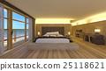침실, 침대, 베란다 25118621