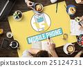 Mobile Phone Cellphone Cellular Communicate Concept 25124731
