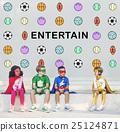 Kids Games Ball Sport Graphics Concept 25124871