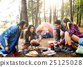 Breakfast Camping Eggs Relax Cooking Concept 25125028