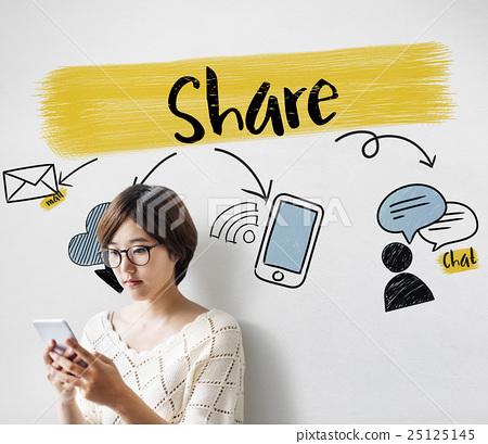 Social Media Connection Communication Friends Concept 25125145