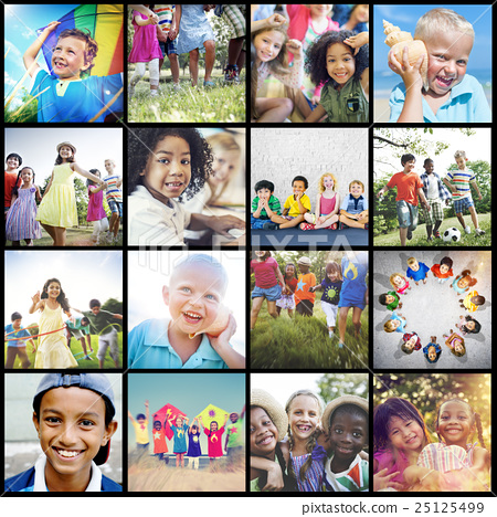 Unity Young Variation Diversity Ethnicity Children Concept 25125499