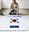 Learn Korean Language Online Education Concept 25126457