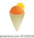 Orange snowcone 25136228