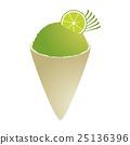 Lime snowcone 25136396