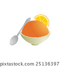 Orange ice in cup 25136397