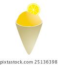 Lemon snowcone 25136398