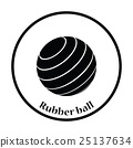 Icon of Fitness rubber ball 25137634