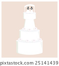 Female wedding cake with flowers 25141439