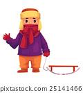 sled, boy, winter 25141466