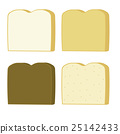 Four Types of Bread Slices 25142433