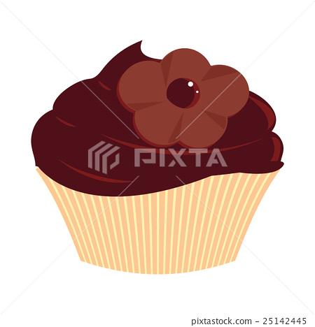 Chocolate Flower Cupcake 25142445