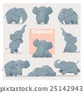 Set of Elephant family 25142943