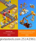 Robotic Conveyor Line 2 Isometric Banners  25142961