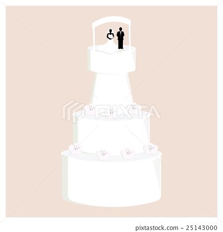 Wedding Cake with Flowers 25143000