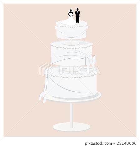 Three Tier Wedding Cake 25143006
