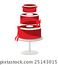 Red Tier Fancy Cake 25143015