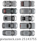 Set of Top view cars on white background 25143755