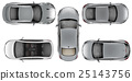 Set of Top view cars on white background 25143756