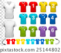 Collection of various colorful soccer jerseys  25144802