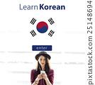 Learn Korean Language Online Education Concept 25148694