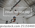Basketball Jump Shot Reach Hoop Shoot Sport Concept 25150460