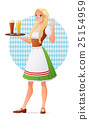 Beautiful blond woman in traditional Bavarian 25154959