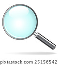 magnifying glass on white background 25156542