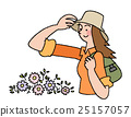 hiking, white background, flowers 25157057