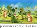 cartoon pea field 25158342