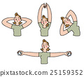 stretching, white background, exercising 25159352