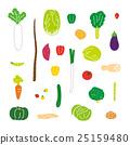 야채, 채소, 벡터 25159480