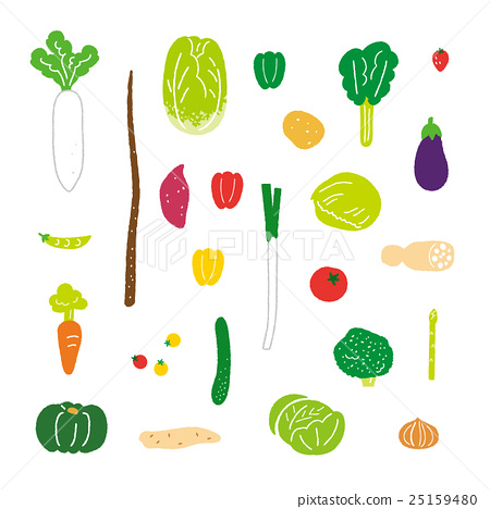 vegetables, vegetable, vector 25159480