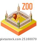 Zoo Lion isometric icon 25160070