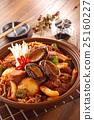 Big bowl of kimchi lunch with abalone, mushro 25160227
