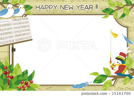 pretty new years card blank expression 25161700