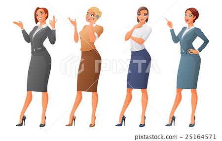 Vector set of business formal dressed women 25164571