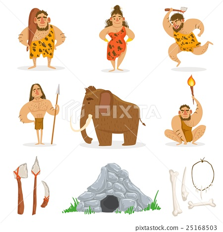 Stone Age Tribe People And Related Objects 25168503