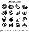 Orange icon set 25168714