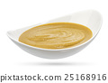 Mustard in bowl isolated on white background 25168916