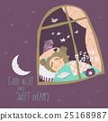 vector sleep girl 25168987