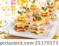 Starhaped holiday Appetizers. 25170373