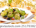 Baked Brussels sprouts. 25170382