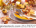 Thanksgiving dinner decoration. 25170727