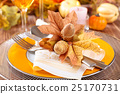 Thanksgiving dinner decoration. 25170731