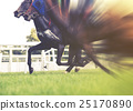horse racing, selective focus and blurred 25170890