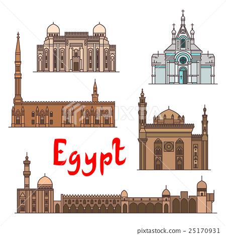 Egypt historic landmarks and sightseeings 25170931