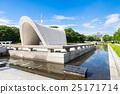 hiroshima peace memorial park, memorial cenotaph for atomic bomb victims, memorial stone 25171714