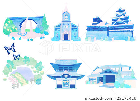 Kumamoto prefecture illustration 25172419