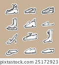 Shoes fashion and sport drawing icons paper cut 25172923